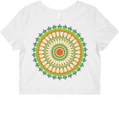 Colorful Mandala Psychedelic Festival