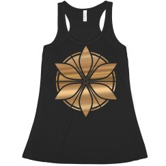 Metallic Foil Geometric Lotus Crop