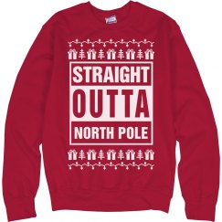 Straight Outta North Pole Ugly Xmas