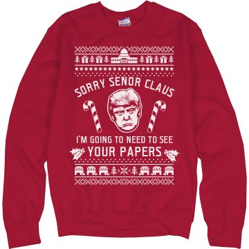 Trump Christmas Sweater Immigration