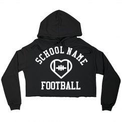 Custom Football School Crop Sweatshirt