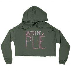 Cropped Sweatshirt - Pink Glitter font