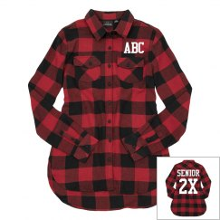 Custom Initials Senior Flannel