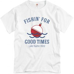 Custom Lake Name Fishin' Tee
