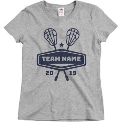 Lacrosse Custom Lax School Team & Colors Tee