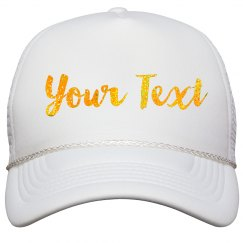 Gold Glitter Custom Hat