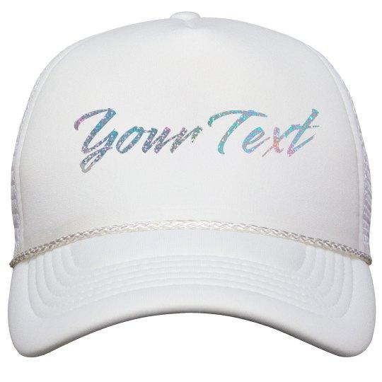12f97d5f2ec Gold Glitter Custom Hat Film and Foil Solid Color Snapback Trucker Hat