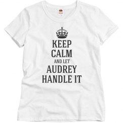 Let Audrey handle it