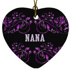 Nana Floral Ornament