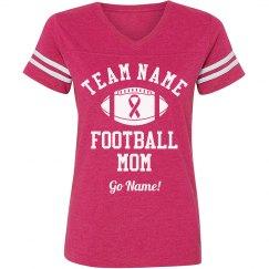 Breast Cancer Football Mom