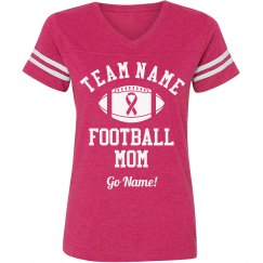Breast Cancer Football Mom