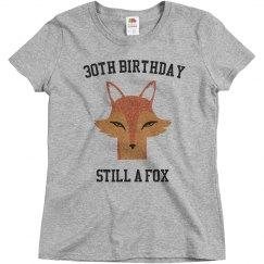 30th birthday still a fox