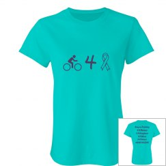 Bike for a Cure - ladies slim fit t-shirt