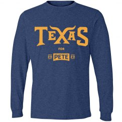 Texas for Pete - Heather Blue - Long Sleeve