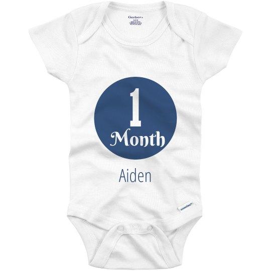 5b74b3a1e 1 Month Baby Boy Infant Onesie