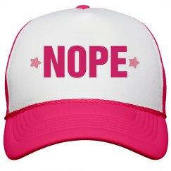Nope Hat Neon