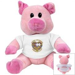 Autism Heart Puzzle Pig