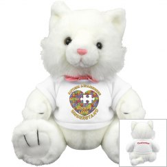 Autism Heart Puzzle Kitty Cat