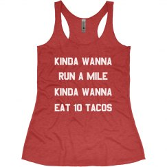 Funny Taco Workout Racerback Tank
