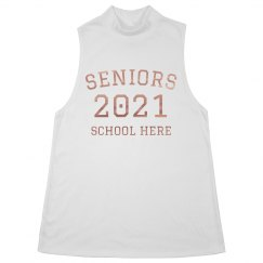 Seniors Rose Gold Metallic Tank