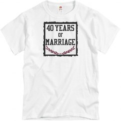 40 years of marriage
