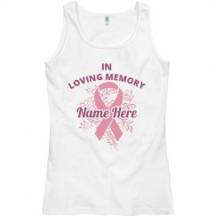 Cancer Ribbon Memorial Tank