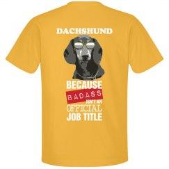 DACHSHUND BADASS
