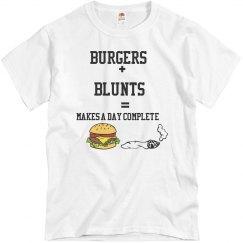 Andre's burger+ blunts shirt