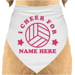 Volleyball Dog Cheer Bandana