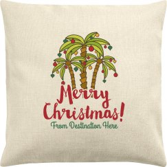 Custom Destination Holiday Pillow