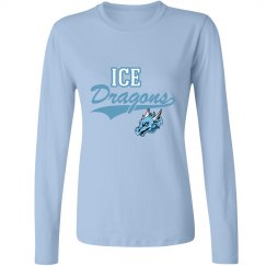 #24 Ladies-Long Sleeve Tee-Port&Co.Brand-Ice Blue