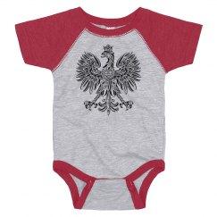 Polish eagle baby onesie