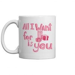 Pink Christmas Mug