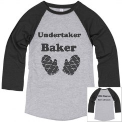 Undertaker Baker Baseball T-Shirt