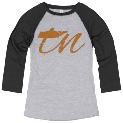 TN Tennessee T shirt Tee Raglan
