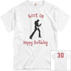 30th birthday rock on