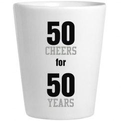 50 Year Shot Glass