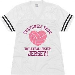 Custom Volleyball Sister Jersey