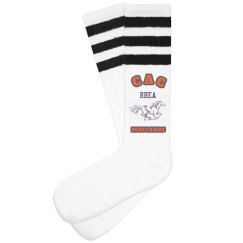 Socks- Mustangs orange