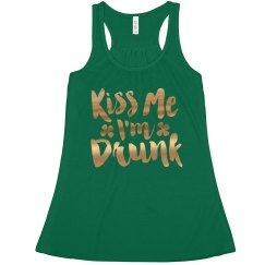 St Patrick Gold Metallic Kiss Me
