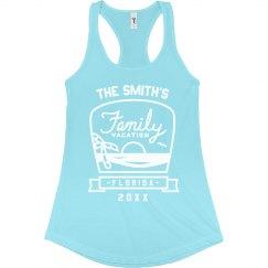 Custom Beach Family Vacation Tanks