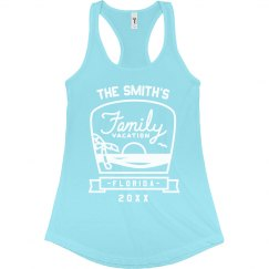 Custom Beach Family Vacation Tanks