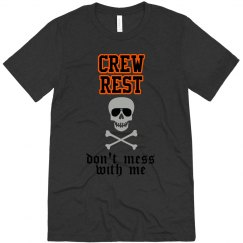unisex aviator skull crew rest