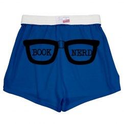 Book Nerd shorts, juniors