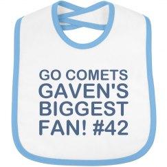 Comets Fan Bib