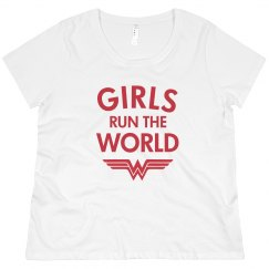 Wonder Woman Girls Rule Plus Tee