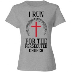 I run for the persecuted church