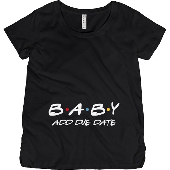 285497a135155 Friends Cute Baby Announcement Maternity Cotton T-Shirt