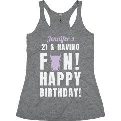 Custom Name 21st Birthday