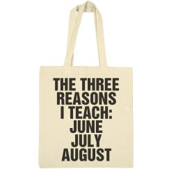 Funny Teacher Tote